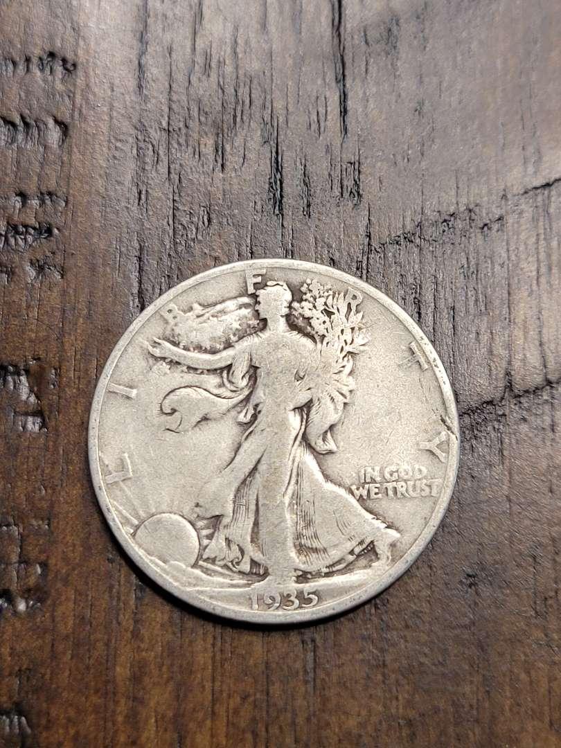 Lot # 92 1935- D Walking Liberty Half Dollar- 90% US Silver