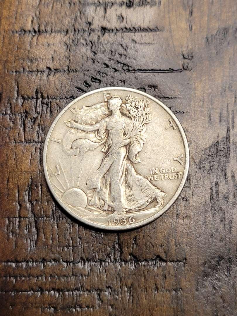 Lot # 93 1936 Walking Liberty Half Dollar- 90% US Silver