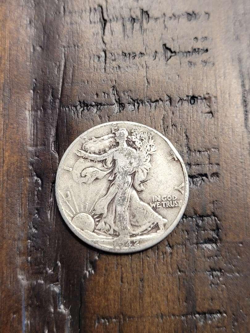 Lot # 94 1942 Walking Liberty Half Dollar- 90% US Silver