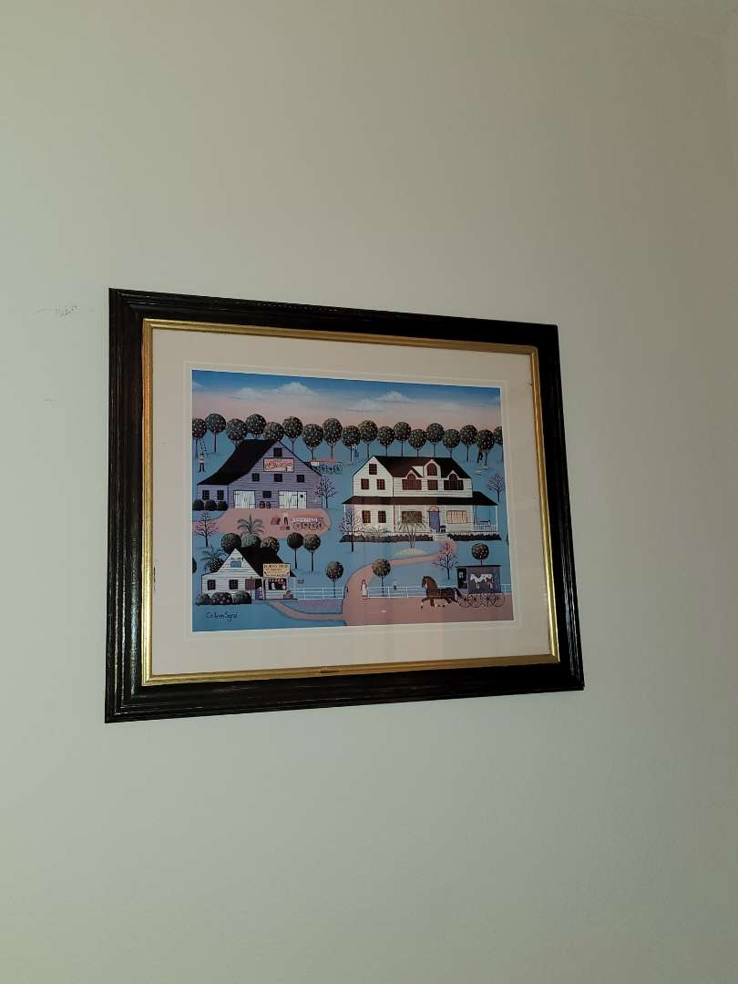 Lot # 131 Orange Blossom Village Art by Colleen Sgroi