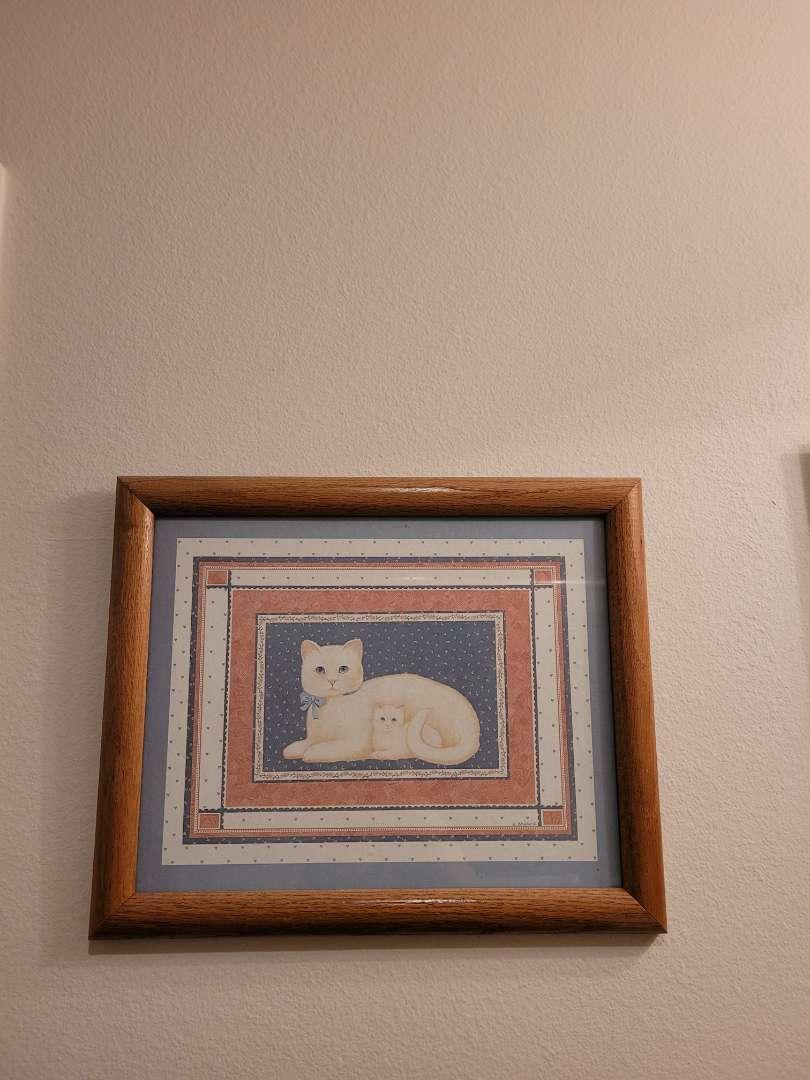 Lot # 141 Vintage Cat Print By E. Brownd