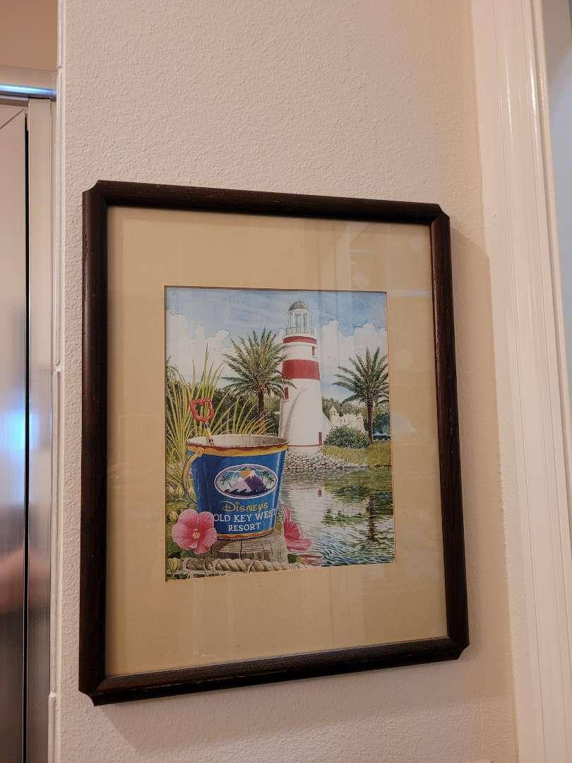 Lot # 142 Framed Disney Old Key West Resort Print