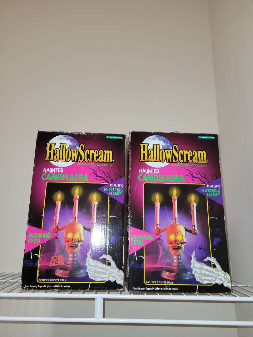 Lot # 182 (2) Halloscream Animated Candlesticks