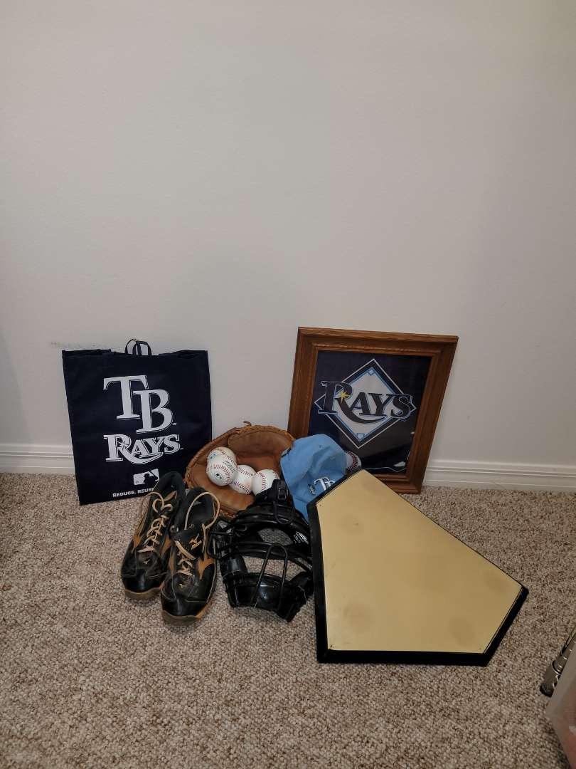 Lot # 183 Baseball's, Glove, Base & More