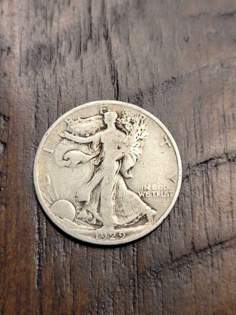 Lot # 190 1929-S Walking Liberty Silver Half Dollar-90% US Silver