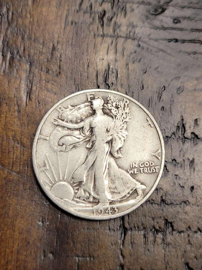Lot # 193 1943 Walking Liberty Silver Half Dollar-90% US Silver