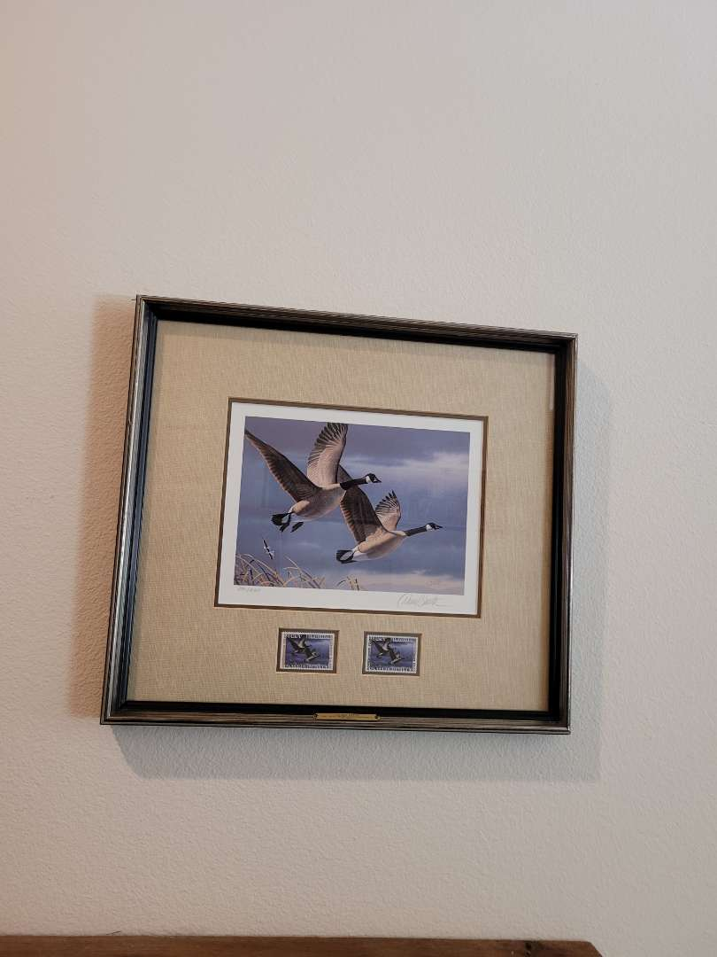 Lot # 210 Framed & Matted 1987 West Virginia Duck Stamps Print - Signed & Numbered 3791/10064