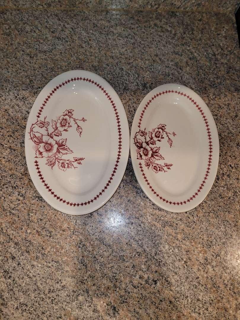 Lot # 225 (2)  Buffalo China Plates