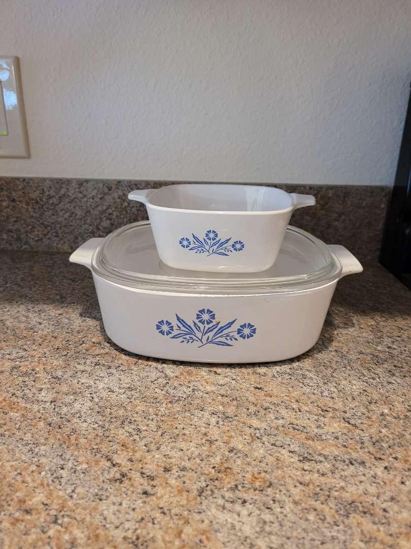 Lot # 241 (2) Vintage CorningWare Baking Dishes