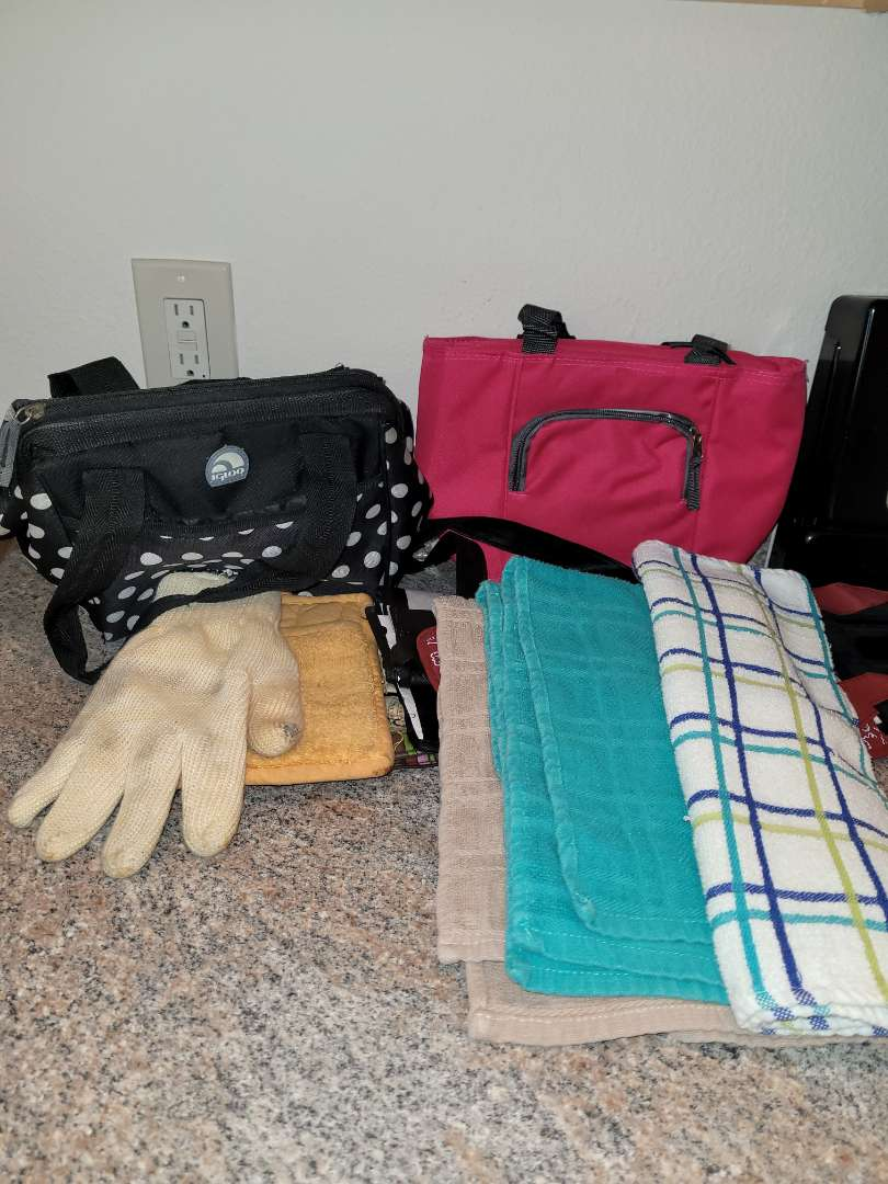 Lot # 249 Lunchboxes & Dish Rags