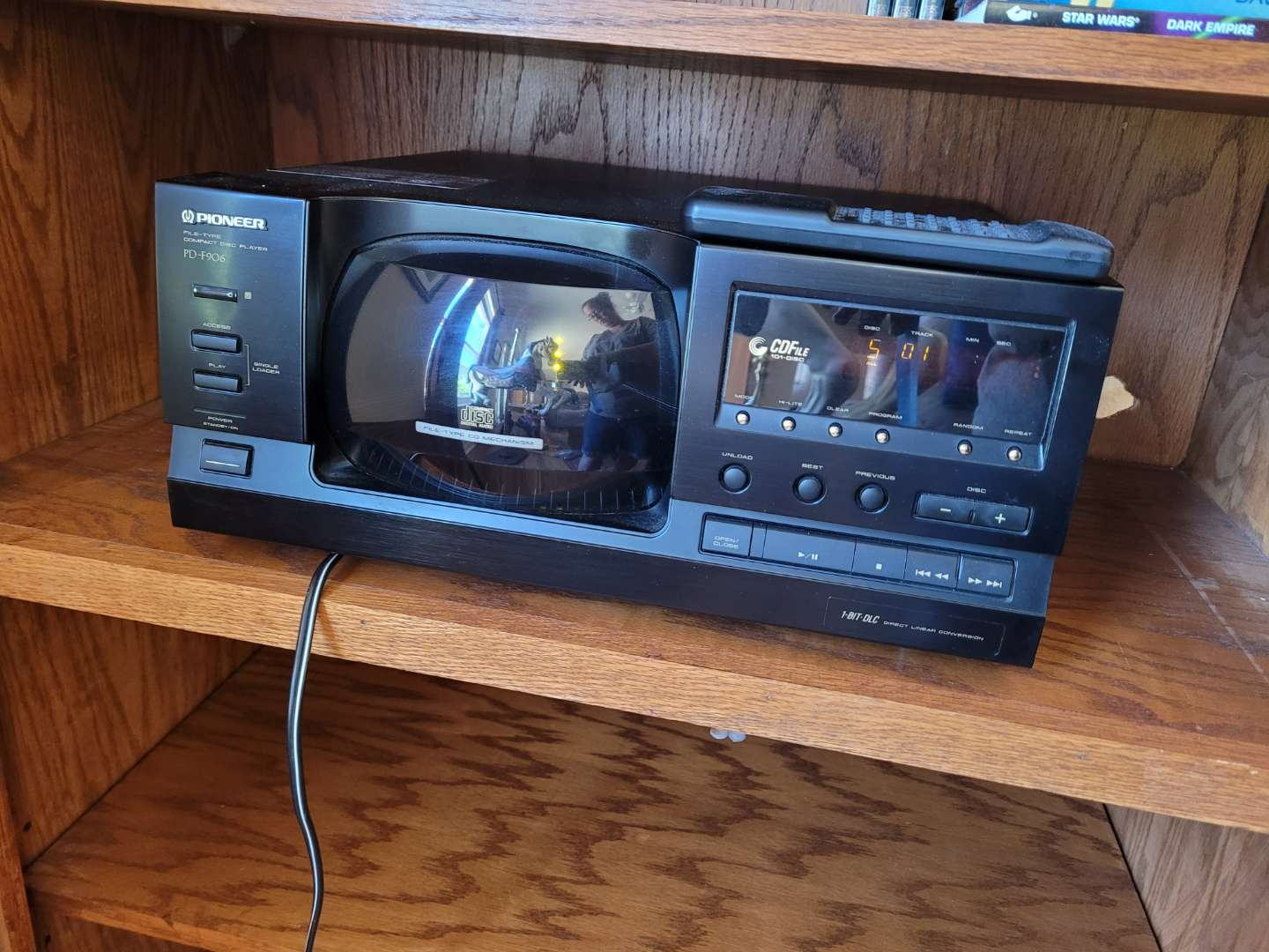 Lot # 267 Pioneer PD-F906 Disk Player w/ Remote - Holds 101 CDs