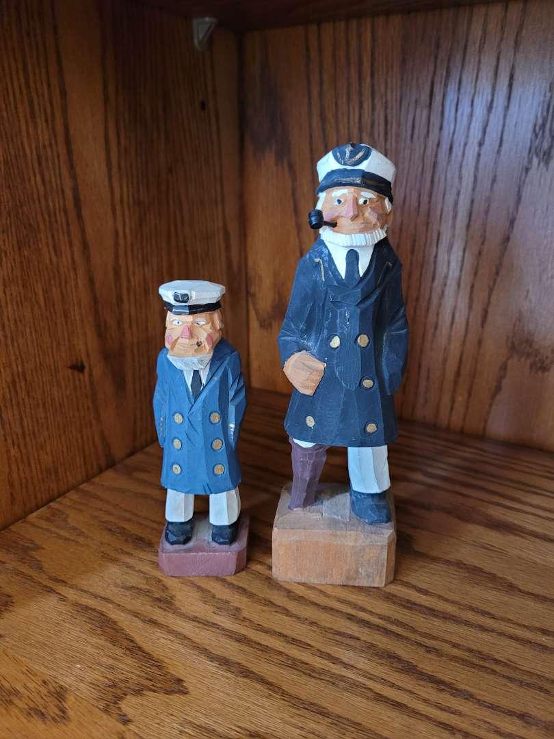 Lot # 274 (2) Nanco Carved Captains