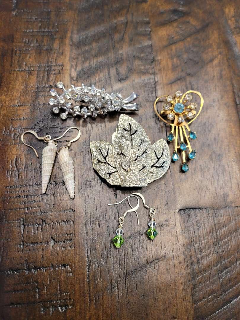Lot # 282 Pins, Clip & Earrings