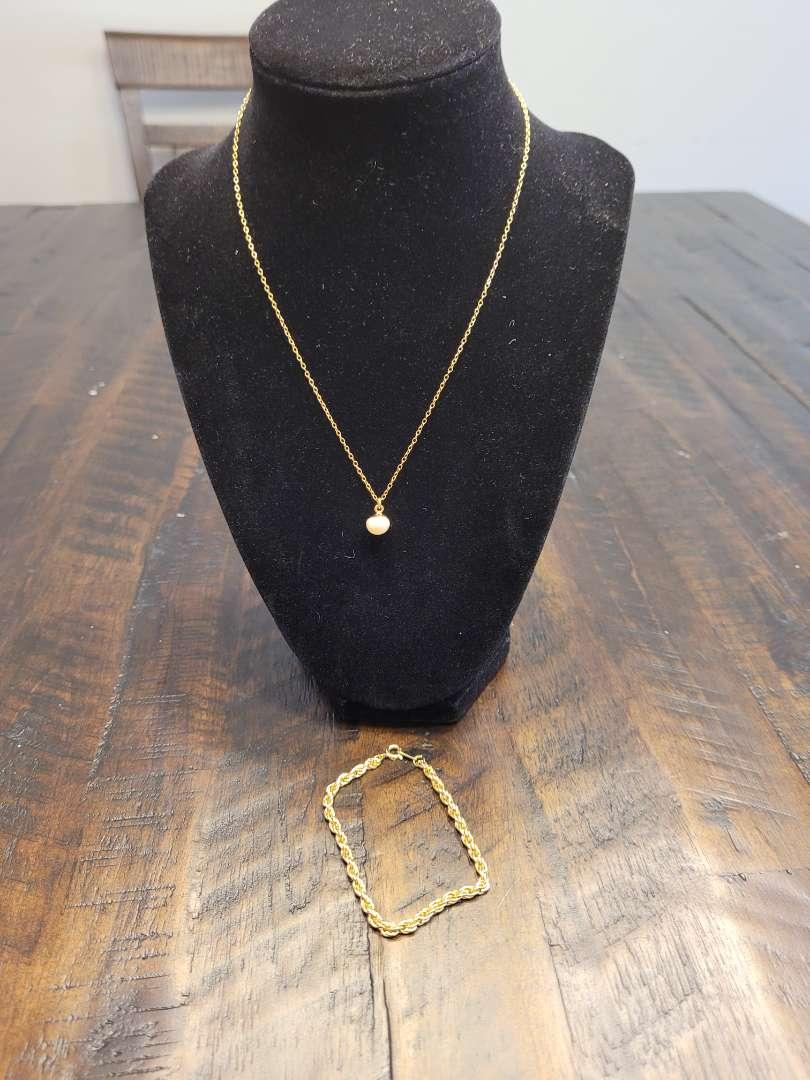 Lot # 287 Beautiful Necklace w/ Charm & Rope Bracelet