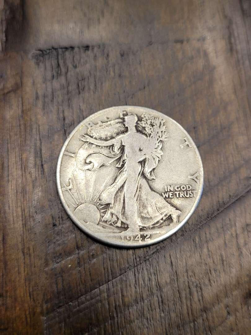 Lot # 294 1942 Walking Liberty Silver Half Dollar-90% US Silver