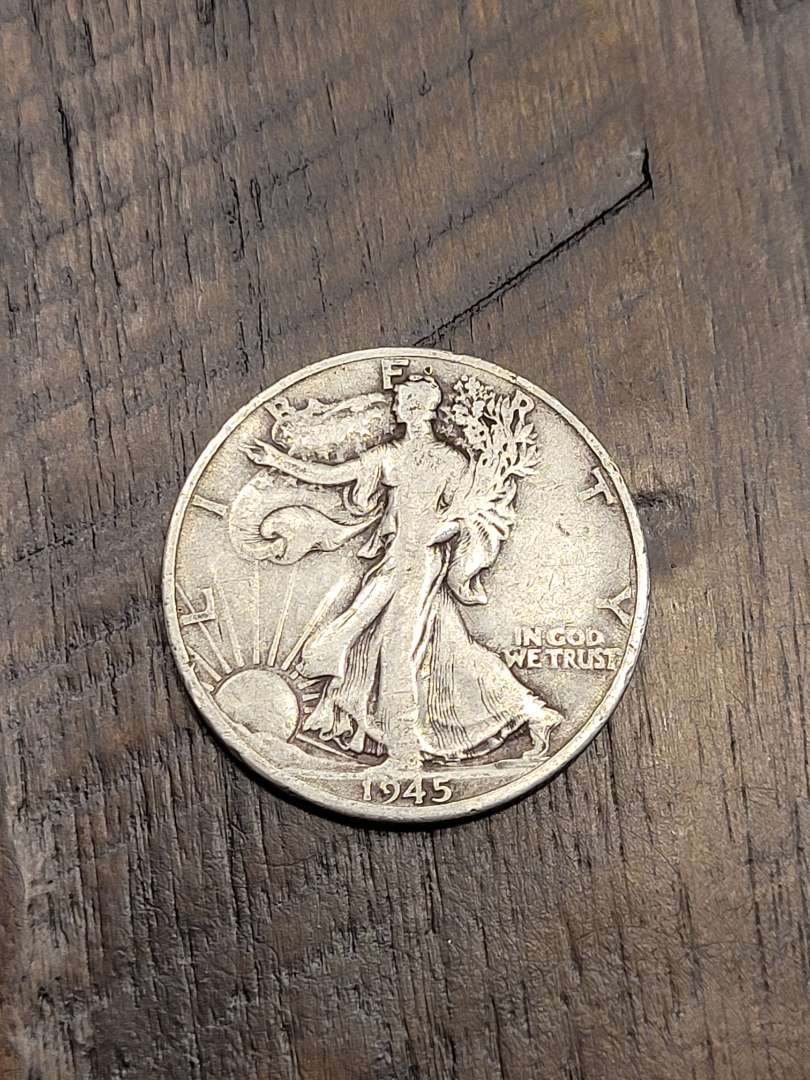 Lot # 297 1945-D Walking Liberty Silver Half Dollar-90% US Silver