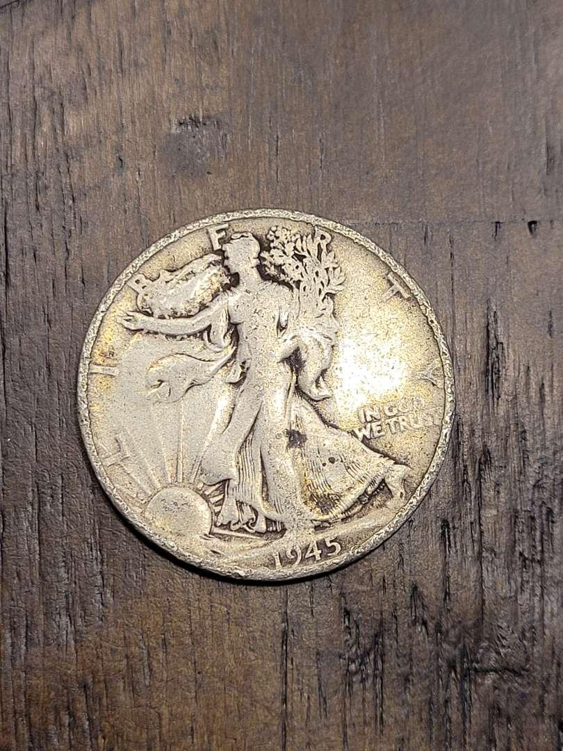 Lot # 298 1945-S Walking Liberty Silver Half Dollar-90% US Silver