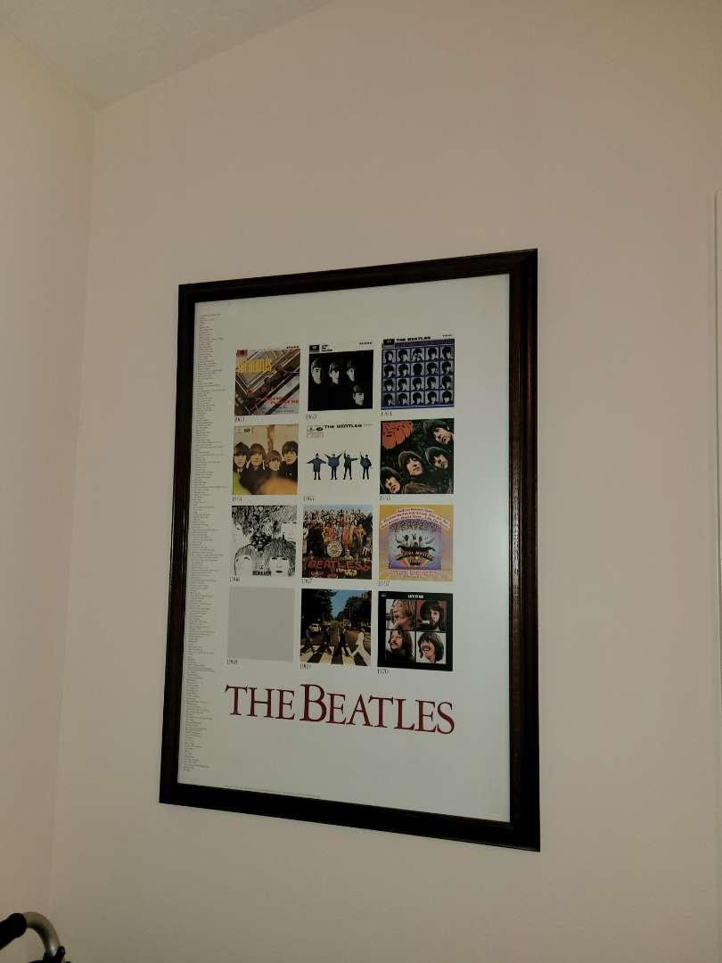Lot # 310 The Beatles Framed Poster
