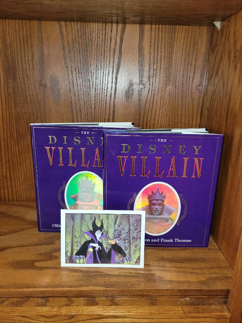Lot # 318 (2) Disney Villains Books & Card