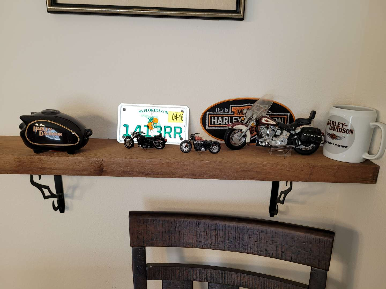 Lot # 326 Harley Davidson Bike Replicas, Bank & More