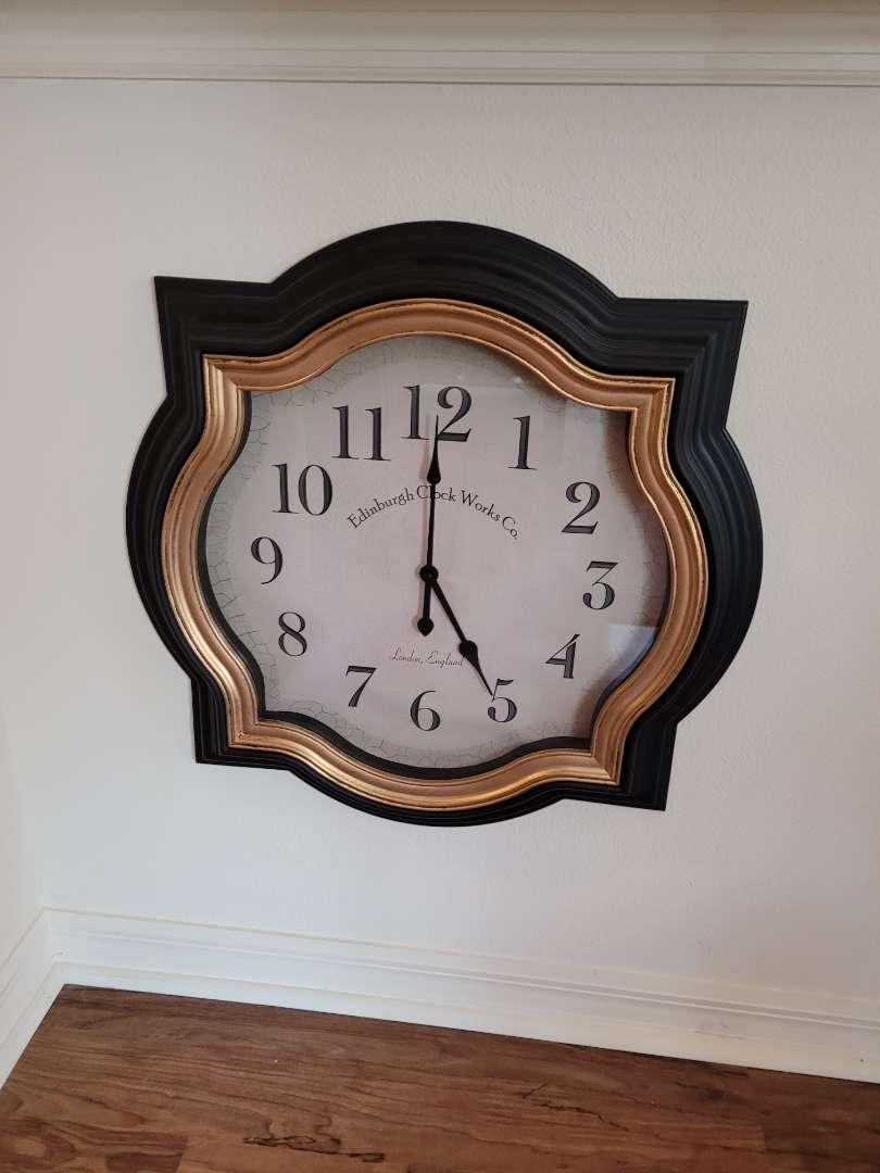 """Lot # 327 Large 23"""" Edinburgh Wall Clock"""