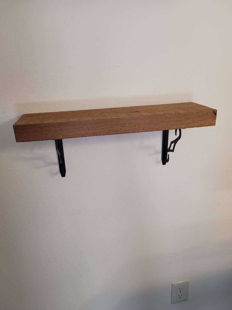 Lot # 332 Wood Shelf & Brackets