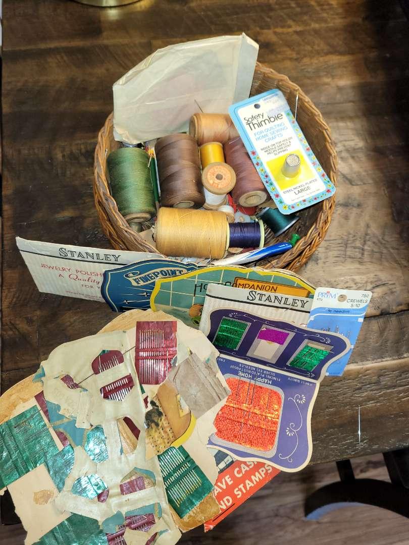 Lot # 336 Vintage Sewing Needles & Thread