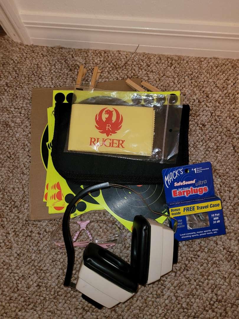 Lot # 349 Targets, Ear Muffler, & More