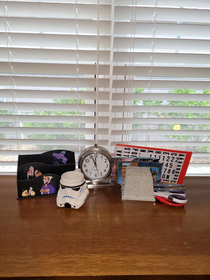 Lot # 373 Mail Organizer, Scissors, Clock & More