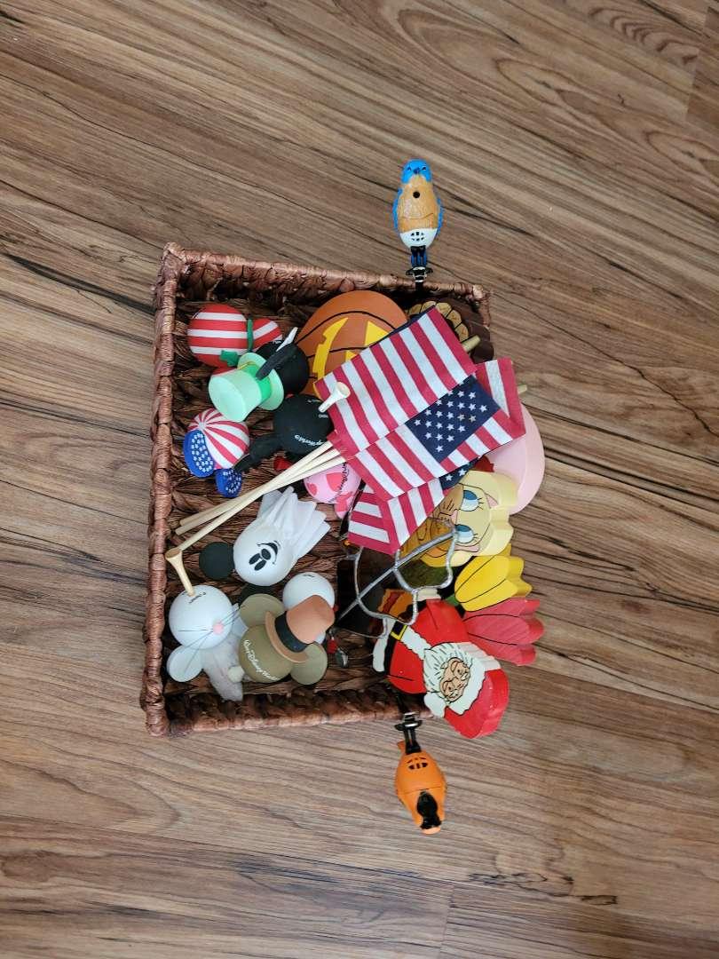 Lot # 374 Wicker Basket & Contents