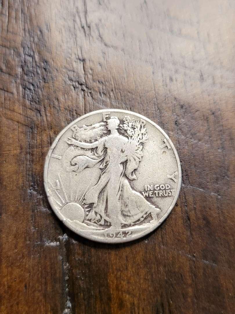 Lot # 380 1942 Walking Liberty Silver Half Dollar-90% US Silver