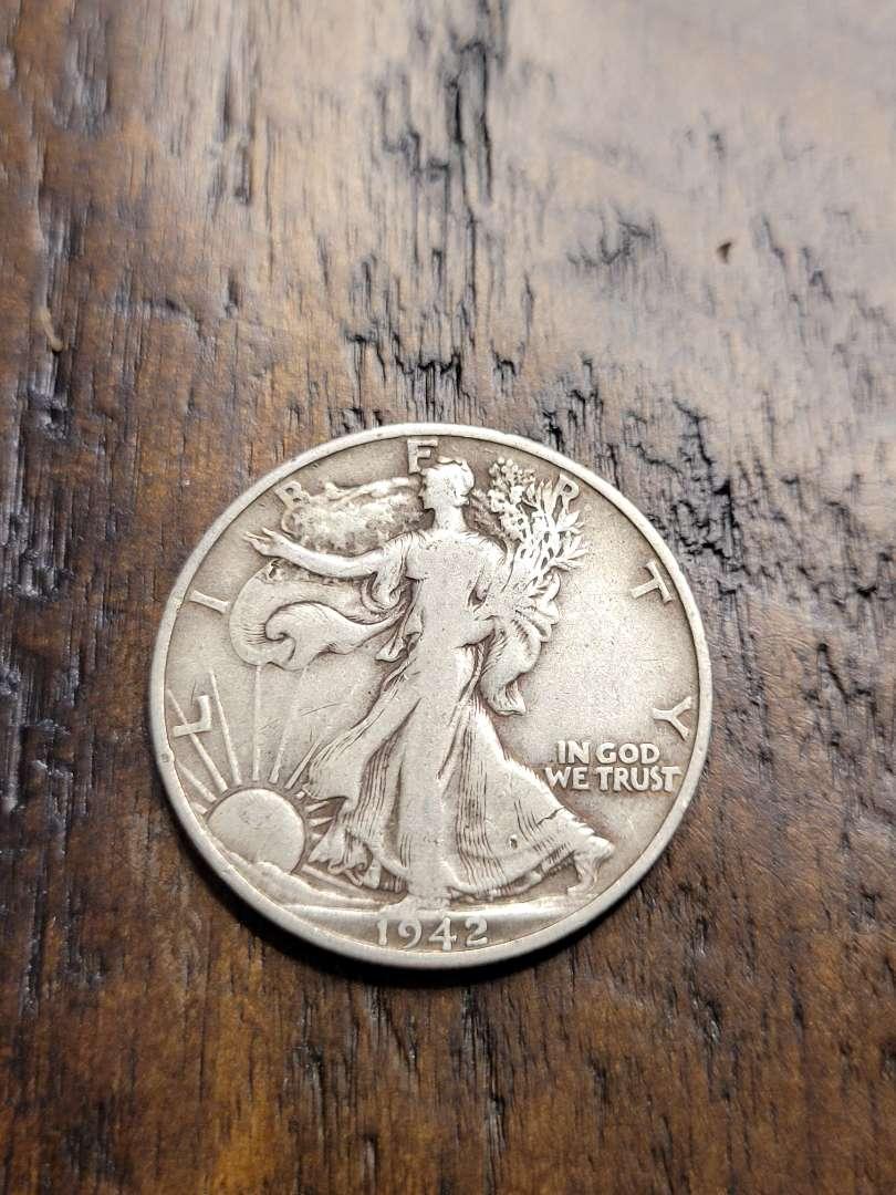 Lot # 381 1942-D Walking Liberty Silver Half Dollar-90% US Silver