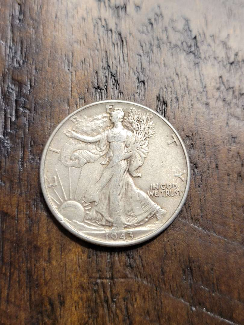 Lot # 382 1943 Walking Liberty Silver Half Dollar-90% US Silver
