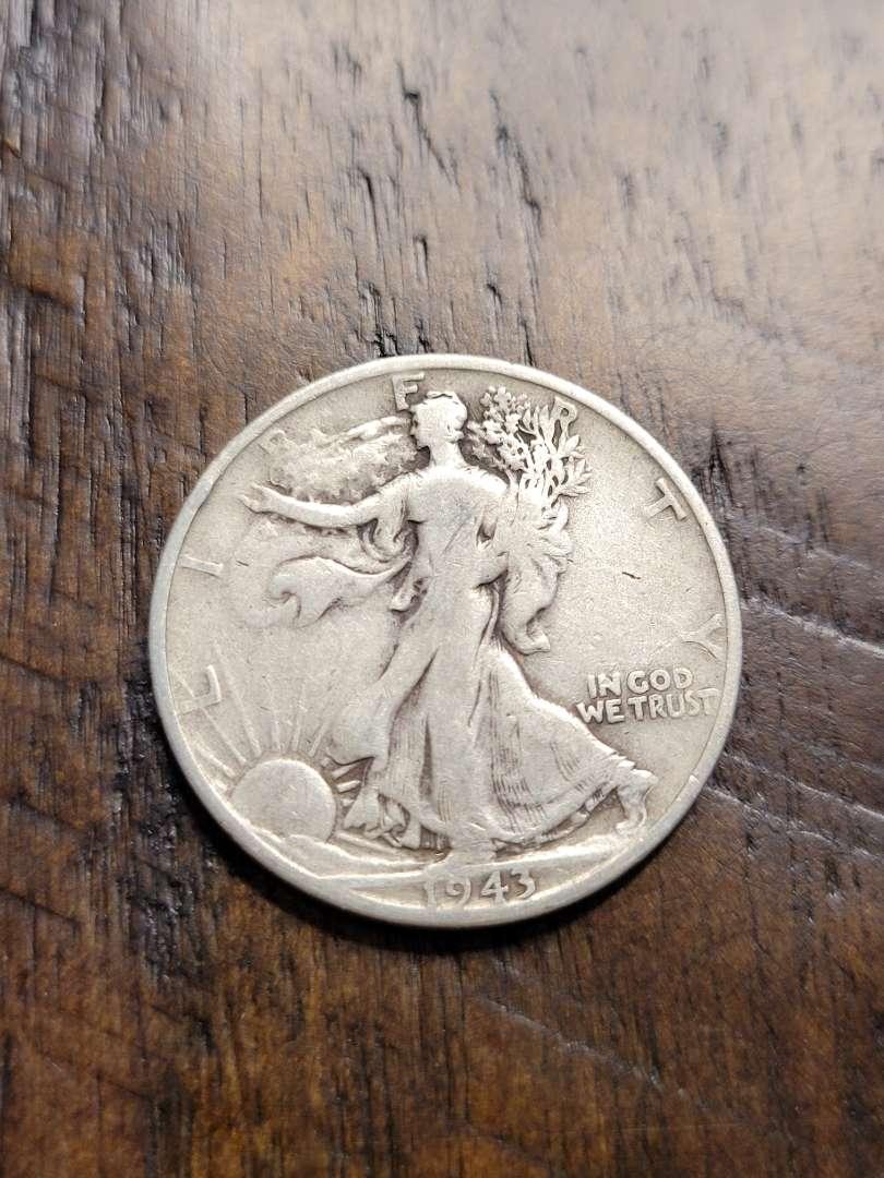 Lot # 383 1943-S Walking Liberty Silver Half Dollar-90% US Silver