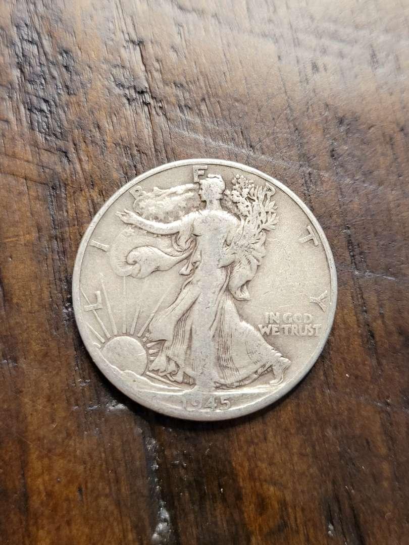 Lot # 384 1945 Walking Liberty Silver Half Dollar-90% US Silver