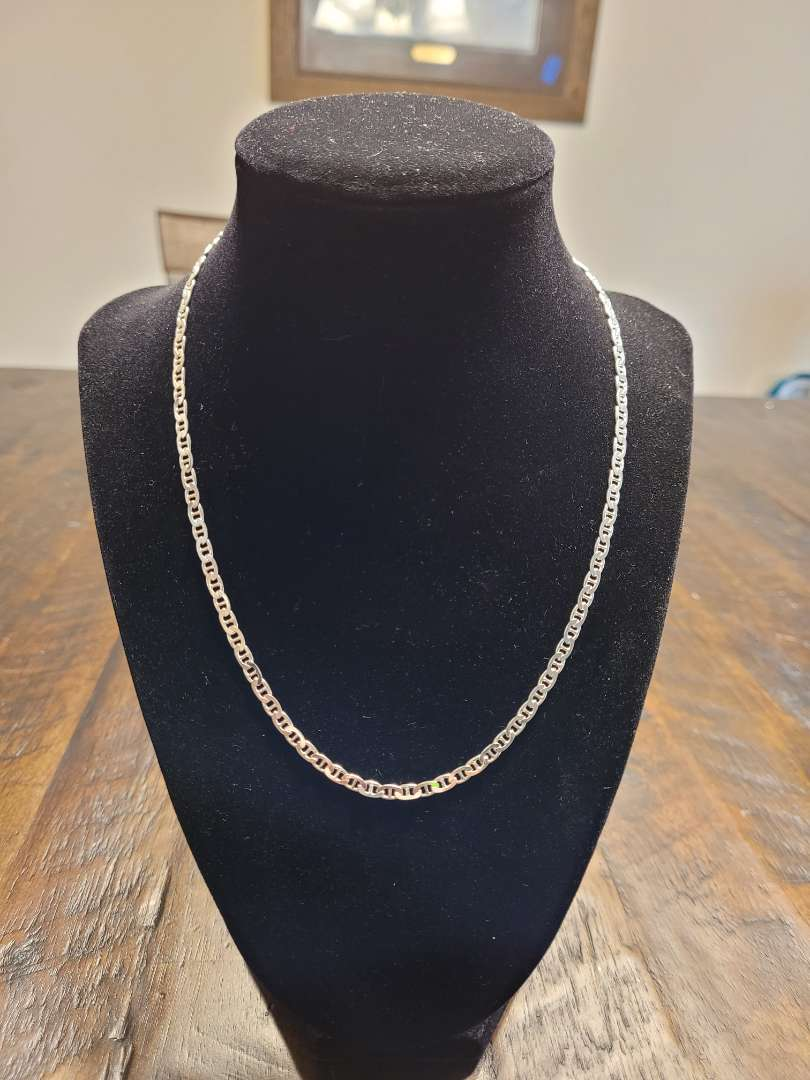 """Lot # 386 Sterling Silver 18"""" Mariner Necklace- NBW"""