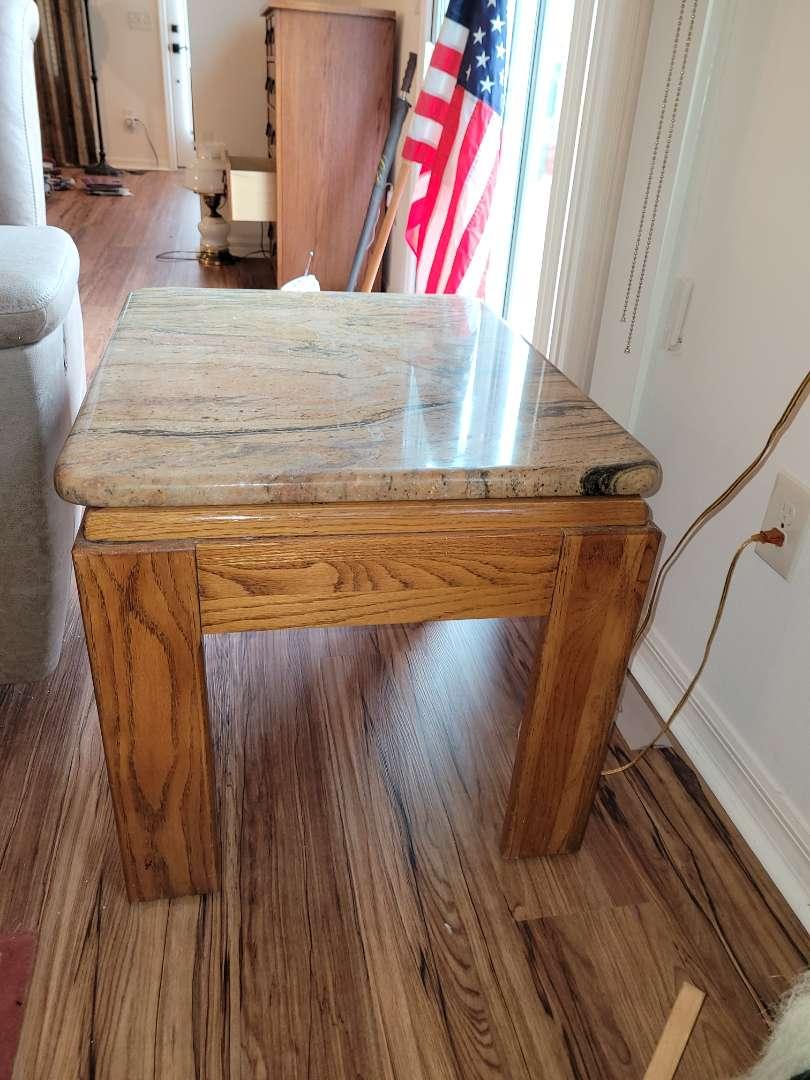 Lot # 394 Livingroom Table w/ Marble Top