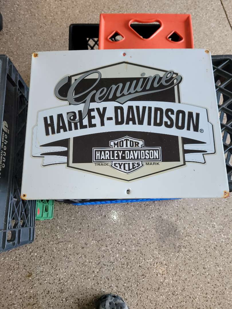 Lot # 400 Harley-Davidson Metal Sign