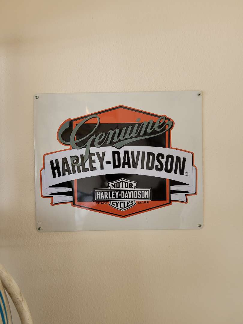 Lot # 401 Harley-Davidson Metal Sign