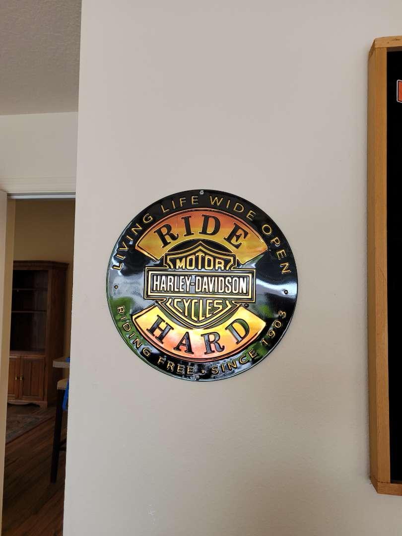 Lot # 406 Harley-Davidson Metal Sign
