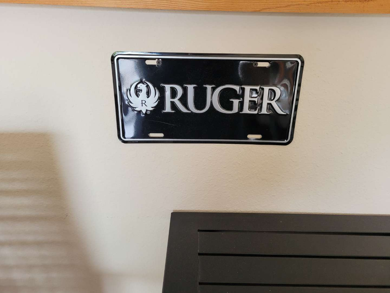 Lot # 407 Ruger Metal Car Plate