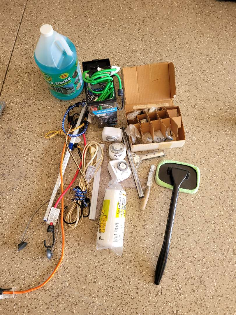 Lot # 428 Drop Cloth, Siding Cleaner, Bungee Cords & More