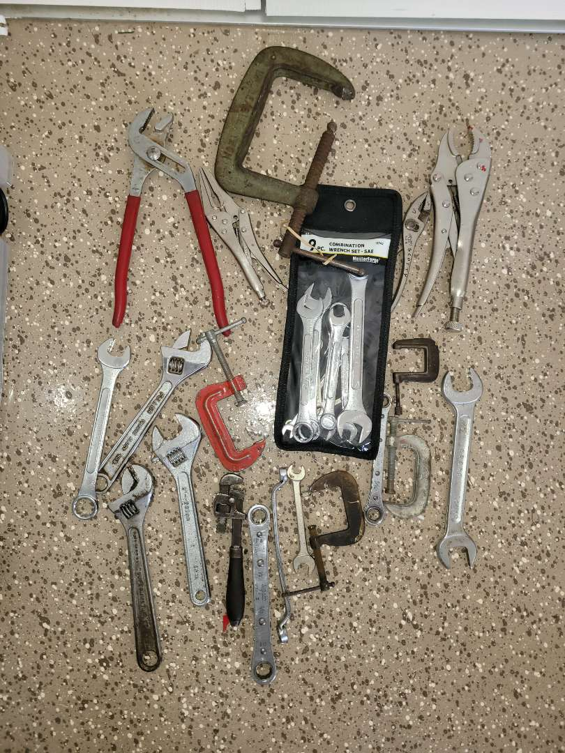 Lot # 431 Assorted  Wrenches & Clamps