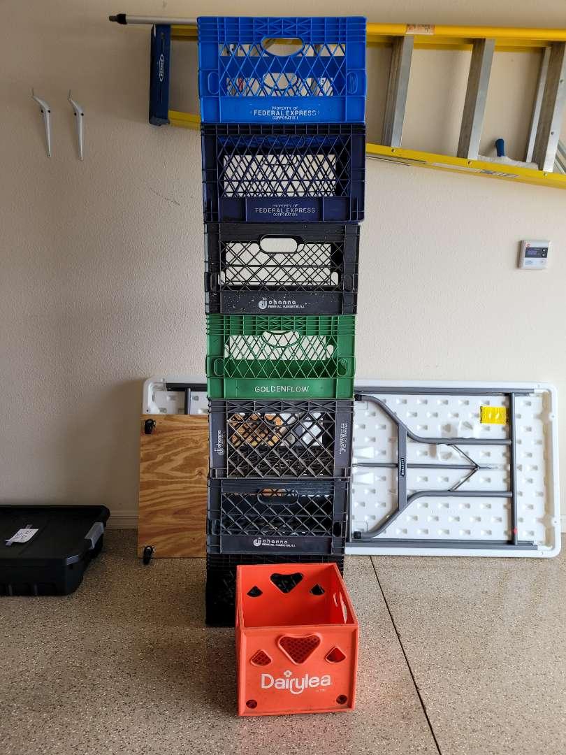 Lot # 445 (8) Milk Crates