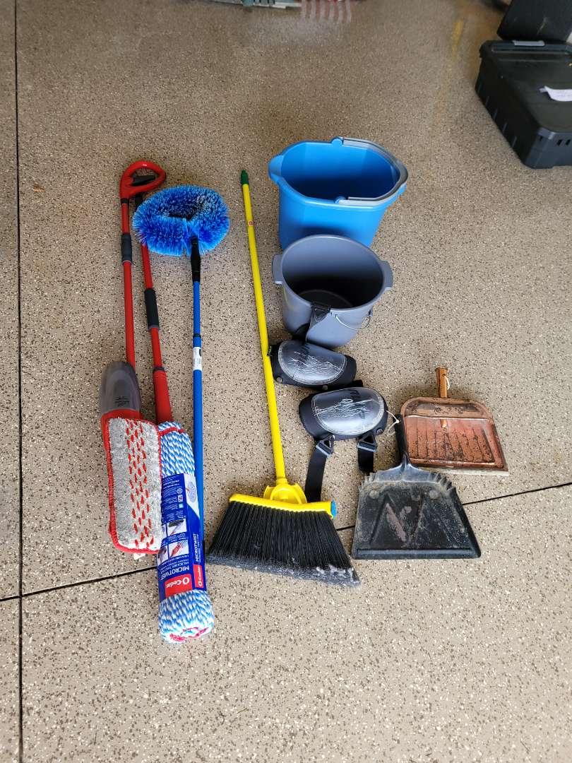 Lot # 449 Mop, Fan Duster, Buckets & More