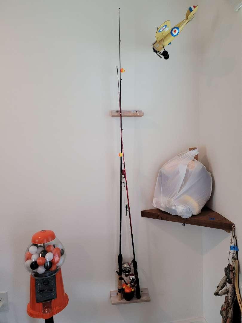 Lot # 458 (2) Fishing Poles & Bobbers