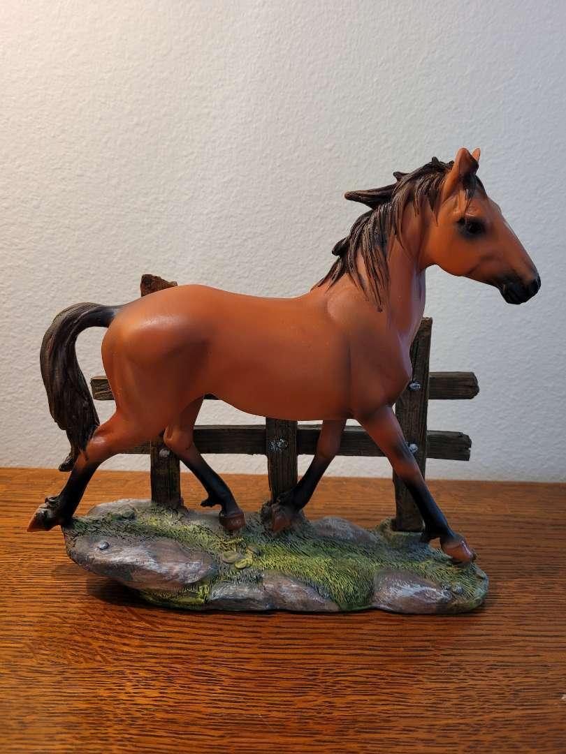 Lot # 463 Horse in Field Statue