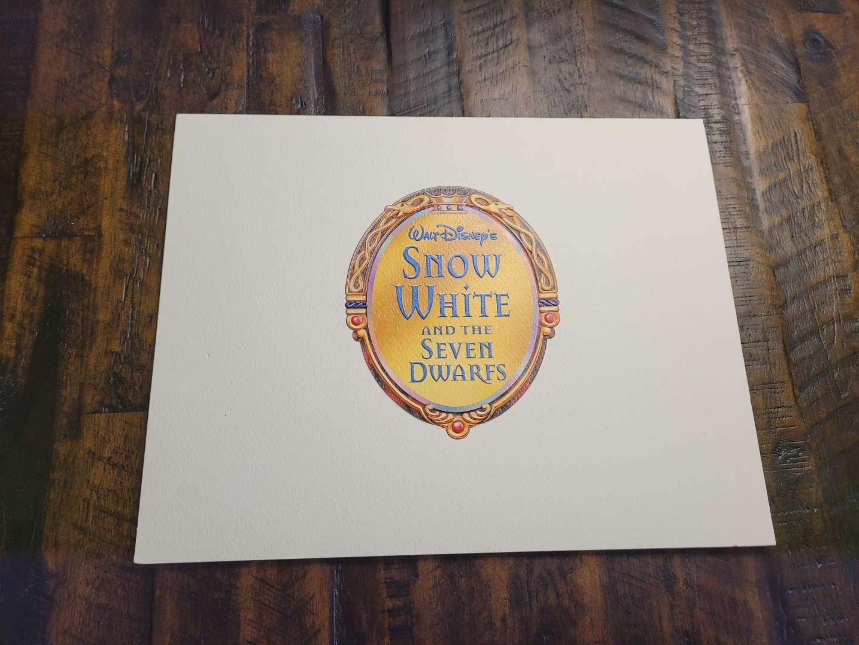 Lot # 474 2001 Exclusive Disney's Snow White Lithograph Portfolio