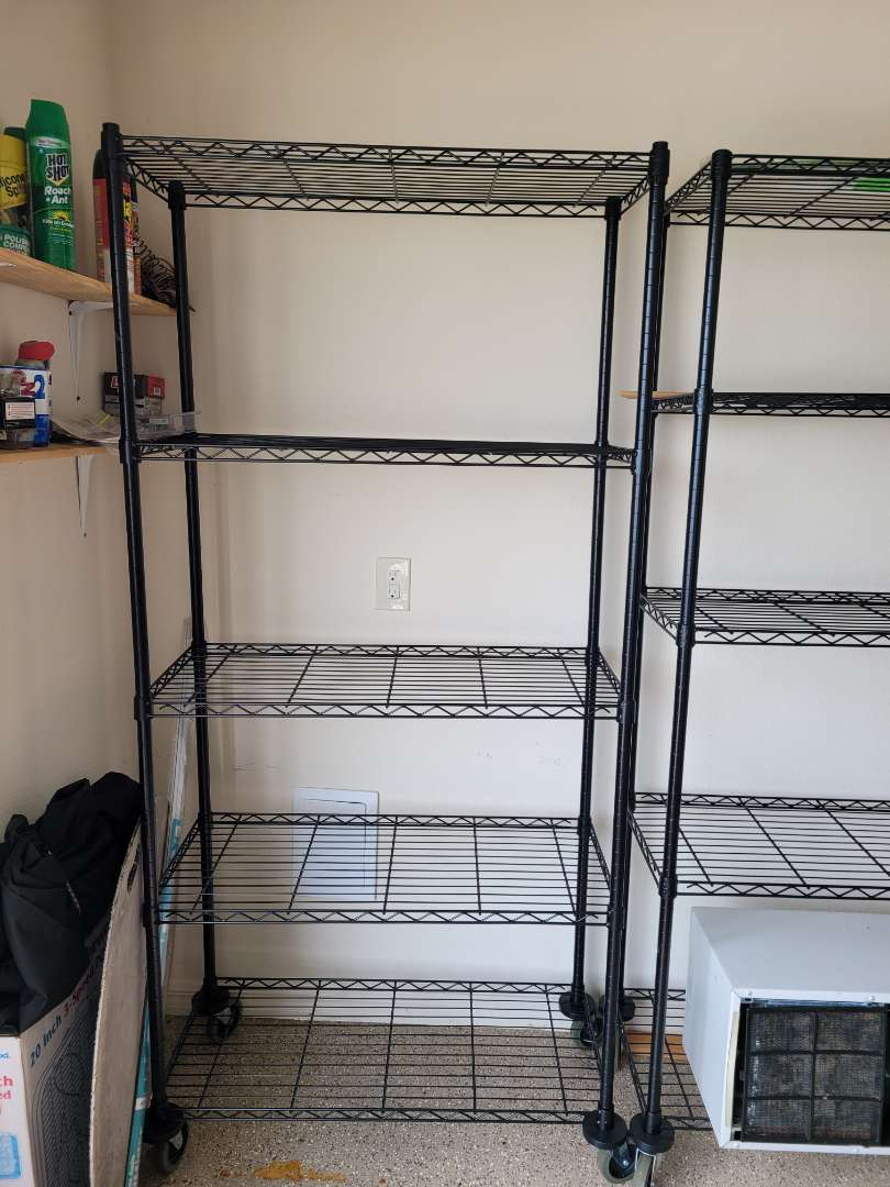Lot # 481 Metal Storage Shelf
