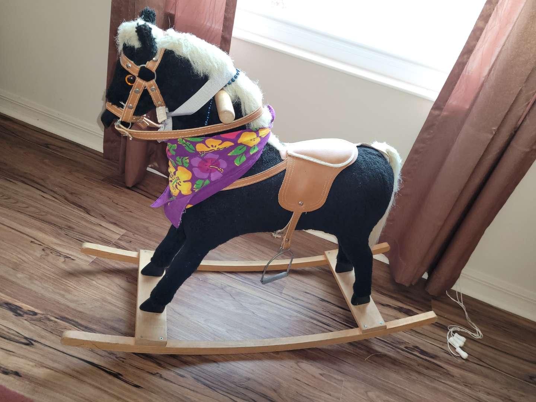 Lot # 484 Vintage Rocking Horse